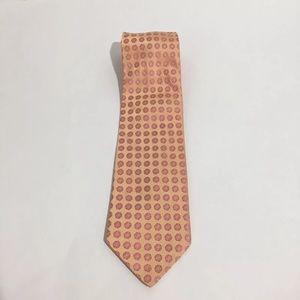 Ike Behar Other - *Ike Behar NY Pink Peach Flower Silk HandMade Tie