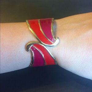 Jewelry - Red and pink hinge bracelet
