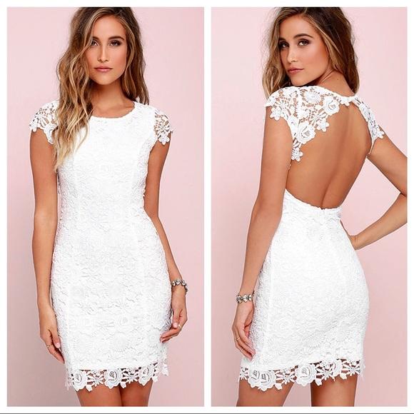 926641cd88 Lulu s Dresses   Skirts - Lulu s Hidden Talent Backless Ivory Lace Dress