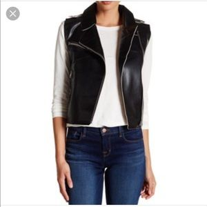 Vigoss Jackets & Blazers - Vigoss Faux Leather Moto Vest