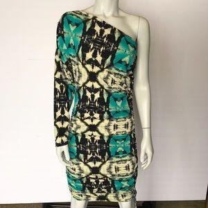 Moda International Dresses & Skirts - {moda international} one shoulder patterned dress