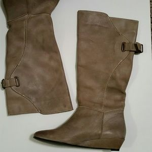 Steven by Steve Madden  Leather Wedge Knee Boots