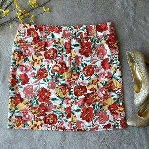 LOFT Dresses & Skirts - Ann Taylor LOFT floral pink spring Easter skirt