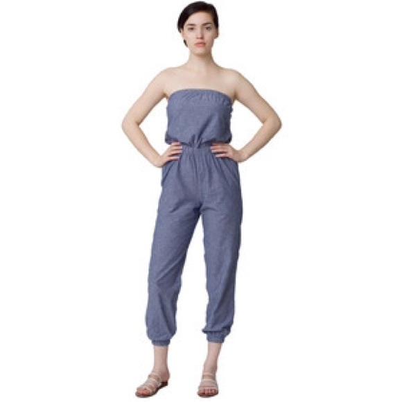 3df904cc621 American Apparel Pants - American Apparel Chambray Jumper Romper-
