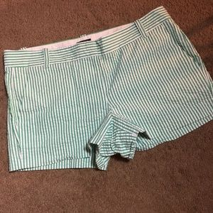 J Crew Women City Fit Striped Shorts
