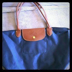 Small LONGCHAMP navy blue bag