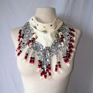 Vintage Accessories - BEADED Western Kerchief