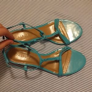 Talbots turquoise strappy sandals, size 9.5
