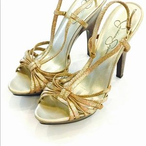 Jessica Simpson Shoes - Metallic Gold Jessica Simpson Heels
