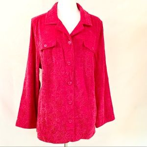 Liz & Me Tops - 💰CLEARANCE‼️Liz & Me Red Button Down