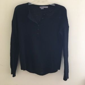 360 Cashmere Sweaters - 360 Sweater henley cashmere sweater!