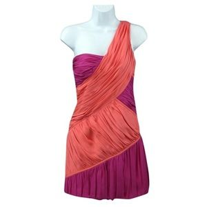 Abaete Dresses & Skirts - Two Tone Gabriel One Shoulder Ruched Sheath Dress