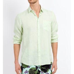 Vilebrequin Other - Vilebrequin Caroubier linen shirt xxxl xxl green