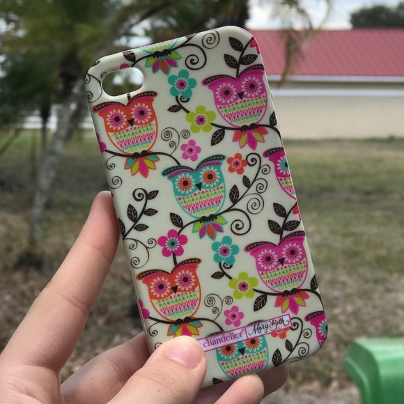 Pink Chandelier Mary Beth Owl Case
