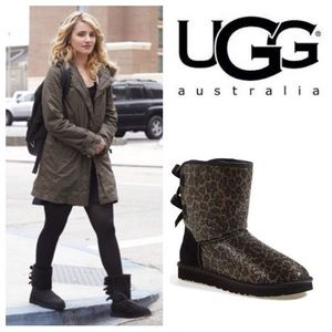 UGG Shoes - Authentic UGG Australia glitter leopard Bailey bow
