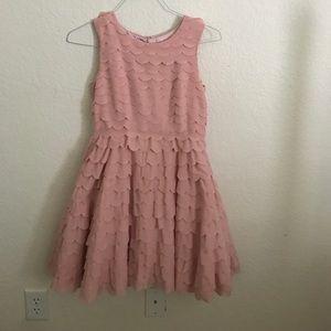 Monsoon Dresses & Skirts - Scalloped pink dress