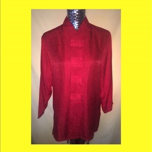 Anna and Frank Tops - Vintage Anna & Frank oriental inspired silk blouse