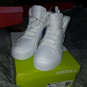Adidas Shoes - NEW RALEIGH MID ADIDAS ALL WHITE NEO LABEL 8.5 WMS