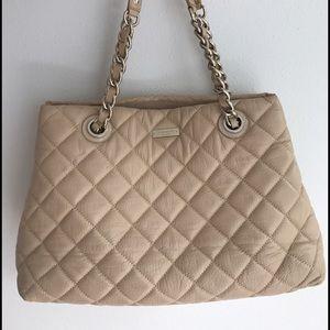 Kate Spade Quilted beige handbag
