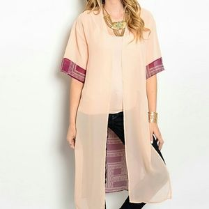NEW Long Sheer Flowy Kimono Top