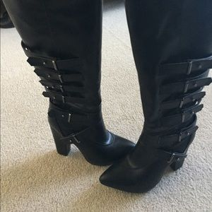 """Urban Luxe Design Co. Shoes - Size 7 sassy black boots, 4 1/2"""" heels"""