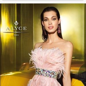 Alyce Paris Dresses & Skirts - Alyce Paris light pink formal flirty dress