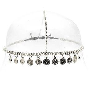 Accessories - NWT Silver coin headdress