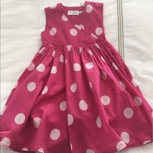 Joules Other - Girls Joules hot pink polka dot dress