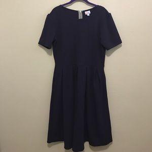 LulaRoe Solid Purple Amelia Dress size 2XL
