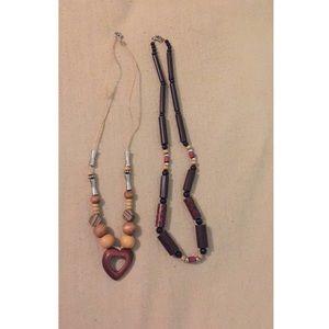 Child of Wild Jewelry - Wooden beads boho necklace bundle