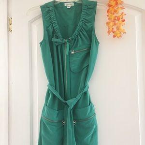 CALVIN KLEIN turquoise modal tie dress 😃