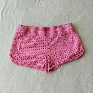 Lilly Pulitzer for Target pink eyelet shorts