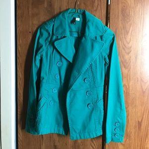 h&m | teal coat
