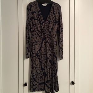 Boden jersey faux wrap dress