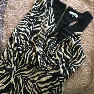 🍍2 for $10! Zebra print blouson dress
