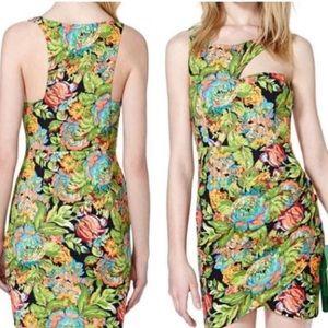 Tropical Cut-Out Dress