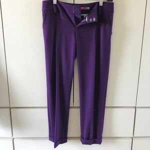 Alice + Olivia Pants - Alice + Olivia cropped purple pants