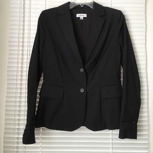Calvin Klein Two-Button Blazer Suit Jacket Black 4