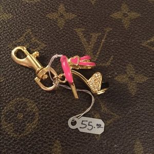 nOir Jewelry Accessories - Noir Barbie Pink & Gold High Heel Charm