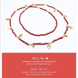 CC Skye Jewelry - nwt//cc skye • bali gold & red coral bead necklace