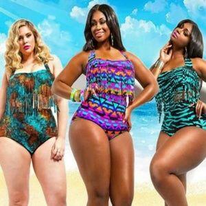 Plus Size High Waist Bikini 3X