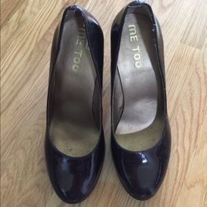 me too Shoes - REDUCED! Me Too Dark Burgundy Patent Heels