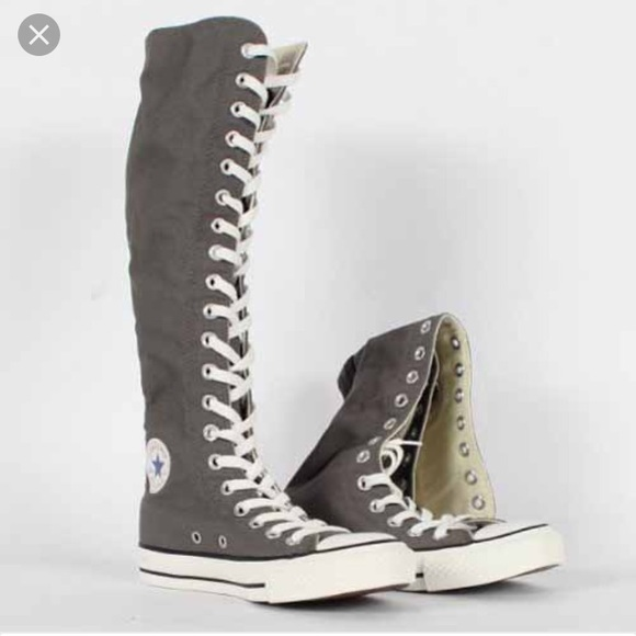 Converse Shoes - ((NEW)) Gray Converse all star knee high shoes c2067f665