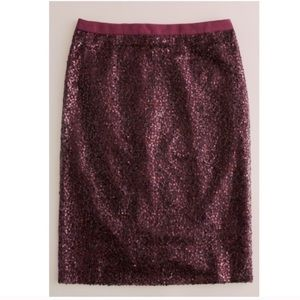 J. Crew Dresses & Skirts - BNWT J. Crew Burgundy Sparkly Pencil Skirt