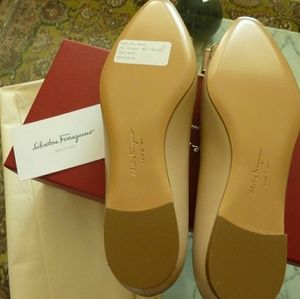 ead6957f0da1 Salvatore Ferragamo Shoes - $650 Salvatore Ferragamo Lola Calf Hair Bow  Flats