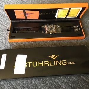 Stuhrling Original Other - New Stuhrling Original Skeleton Square Slim Watch