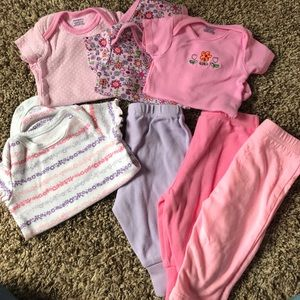 Other - 0-3 months- 4 onesies, 3 pants
