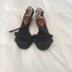 J.Crew black canvas sandals 6.5