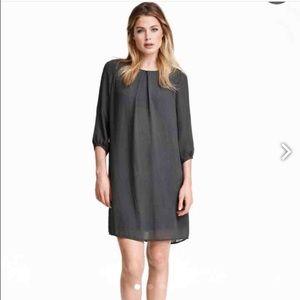 BNWT H&M grey chiffon shift dress