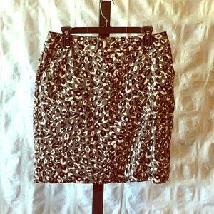 Merona leopard print skirt